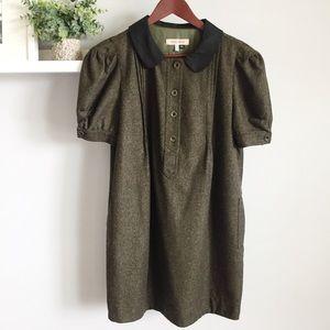 See by Chloe   Tweed Dress Pockets Green 10